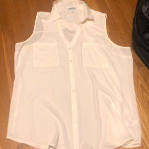 Sleeveless button-up blouse